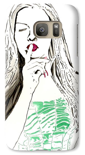 Galaxy Case featuring the painting Secret by Denise Deiloh