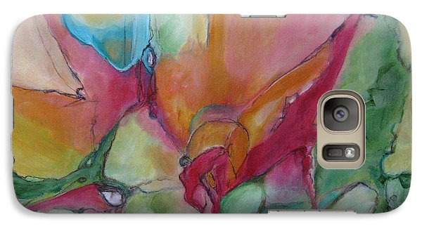 Galaxy Case featuring the painting Secret Garden by Elis Cooke