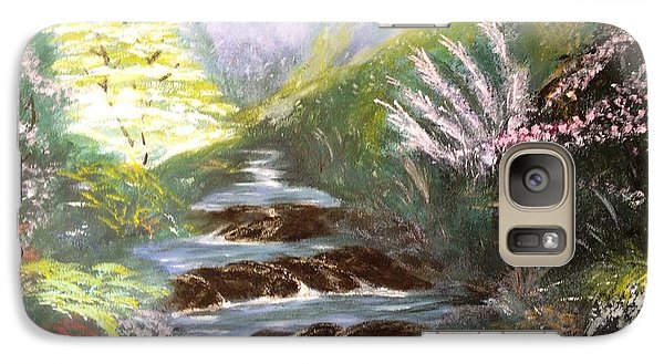 Galaxy Case featuring the painting Secret Garden by Vanessa Palomino