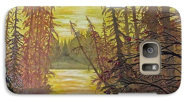 Galaxy Case featuring the painting Secret Passage by Bonnie Heather