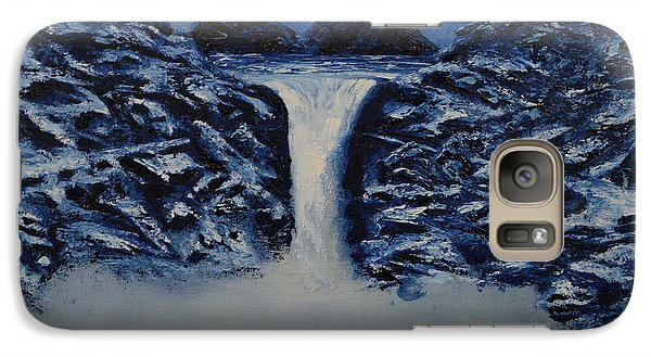 Galaxy Case featuring the painting Secret Places by Shawn Marlow