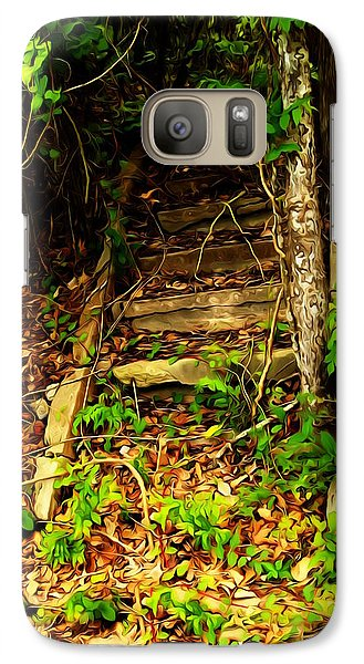 Galaxy Case featuring the photograph Secret Stairway by Bartz Johnson