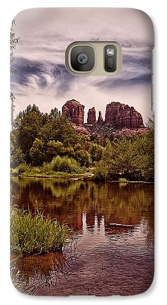 Galaxy Case featuring the photograph Sedona Arizona - Mountain's Majesty ... by Chuck Caramella
