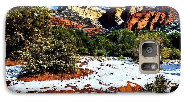 Galaxy Case featuring the photograph Sedona Arizona - Wilderness by Bob and Nadine Johnston