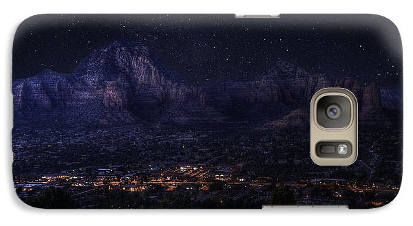 Sedona By Night Galaxy S7 Case by Lynn Geoffroy