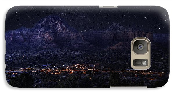 Galaxy Case featuring the photograph Sedona By Night by Lynn Geoffroy