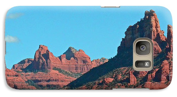 Galaxy Case featuring the photograph Sedona Panorama by Debby Pueschel