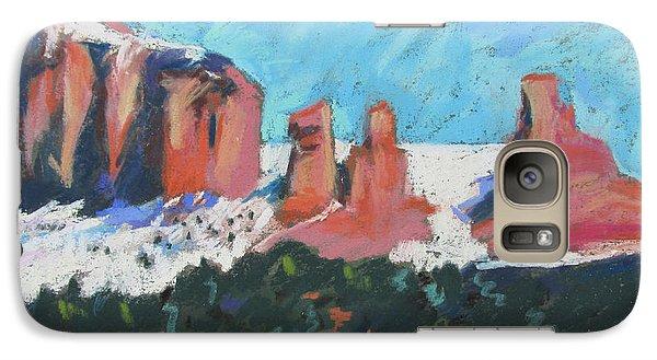 Galaxy Case featuring the painting Sedona Snowfall by Linda Novick