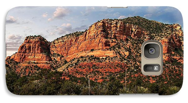 Galaxy Case featuring the photograph Sedona Vortex  And Yucca by Barbara Chichester