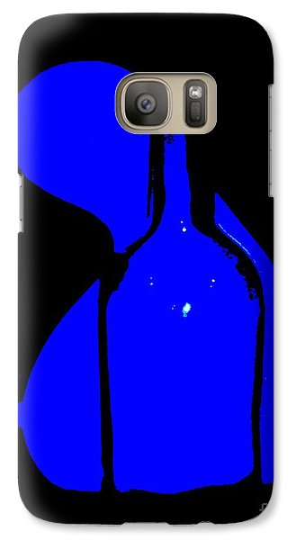 Galaxy Case featuring the photograph Seduction In Blue by Newel Hunter