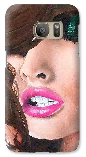 Galaxy Case featuring the painting Seduction by Oddball Art Co by Lizzy Love