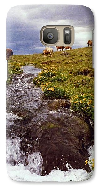 Galaxy Case featuring the photograph See The Pretty Horses by Debra Kaye McKrill