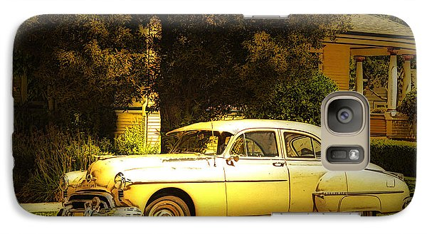Galaxy Case featuring the photograph See The U.s.a. In Your Chevrolet by MaryJane Armstrong