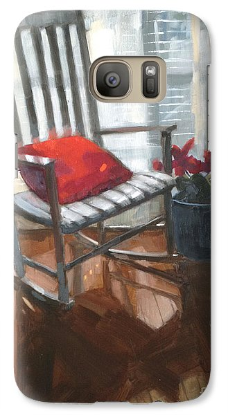 Galaxy Case featuring the painting Sold - Seeing Red  by Nancy  Parsons