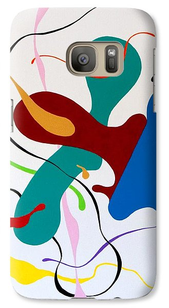 Galaxy Case featuring the painting Seeking by Thomas Gronowski