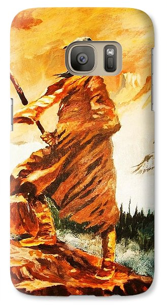 Galaxy Case featuring the painting Seeking Truth In The High Place by Al Brown