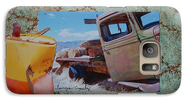 Galaxy Case featuring the painting Seen Better Days by Tamyra Crossley