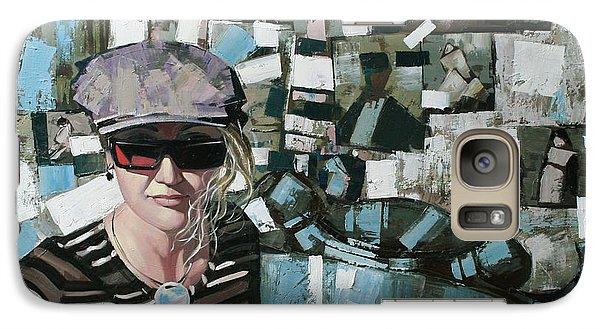 Galaxy Case featuring the painting Self by Anastasija Kraineva