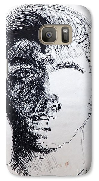 Galaxy S7 Case featuring the drawing Self Portrait At 21 by Rod Ismay