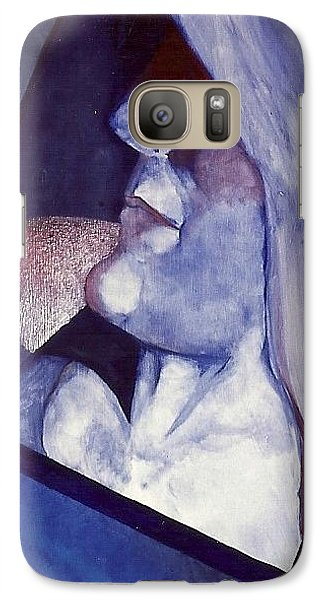 Galaxy Case featuring the painting Self Portrait by Carrie Maurer