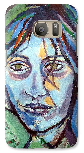 Galaxy Case featuring the painting Self Portrait by Helena Wierzbicki