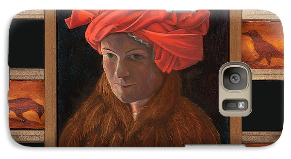 Galaxy Case featuring the painting Self-portrait In The Red Turban by Alla Parsons