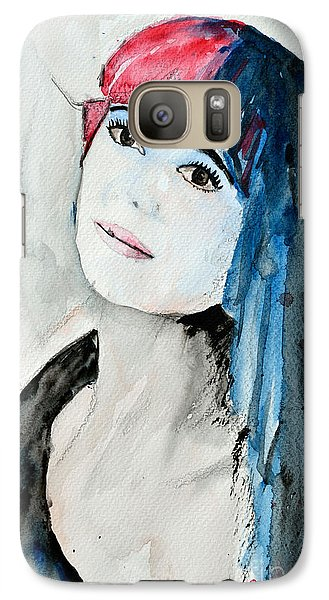 Galaxy Case featuring the painting Self Portrait  by Ismeta Gruenwald