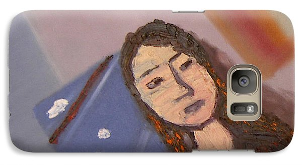 Galaxy Case featuring the painting Self-portrait2 by Min Zou