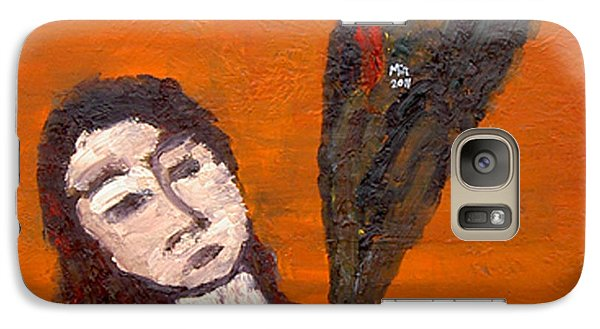 Galaxy Case featuring the painting Self-portrait5 by Min Zou
