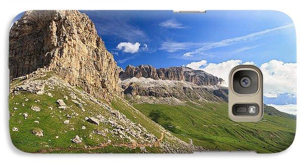 Galaxy Case featuring the photograph Sella Mountain And Pordoi Pass by Antonio Scarpi