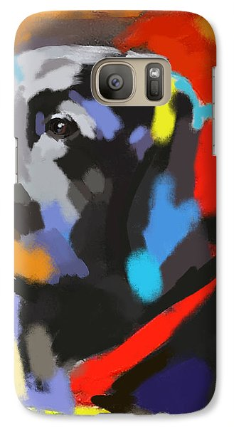 Galaxy Case featuring the painting Dog Sem by Go Van Kampen