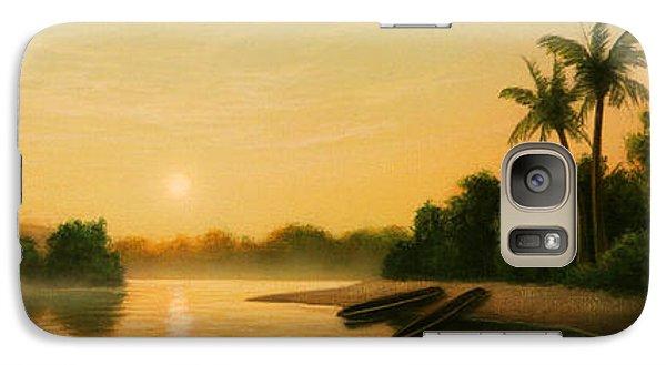 Egret Galaxy S7 Case - Seminole Sunset by Jerry LoFaro