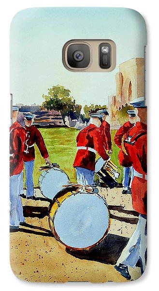 Galaxy Case featuring the painting Semper Fi by Ron Stephens