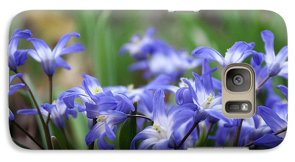 Galaxy Case featuring the photograph Send Flowers Fine Art Print Sweet Squill By Penny Hunt Floral Macro by Penny Hunt