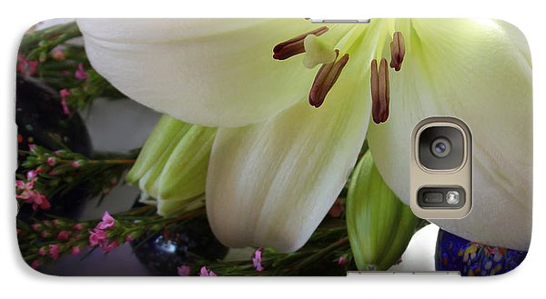 Galaxy Case featuring the photograph Send The Light Lily With Marbles by Bonnie Willis