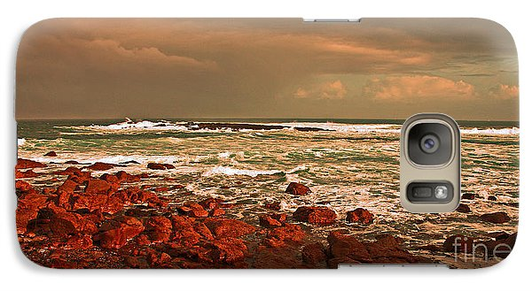 Galaxy Case featuring the photograph Sennen Storm by Linsey Williams