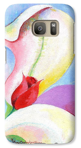 Galaxy Case featuring the painting Sensitive Touch by Mary Armstrong