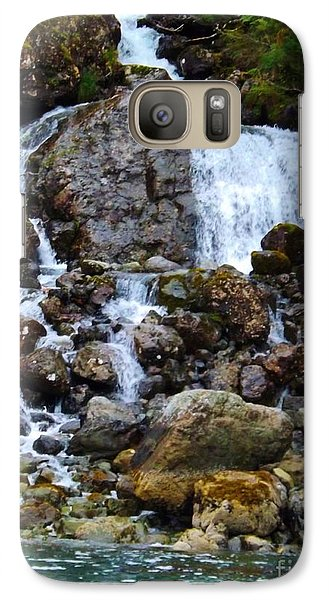 Galaxy Case featuring the photograph Sensory Feast Waterfall by Brigitte Emme