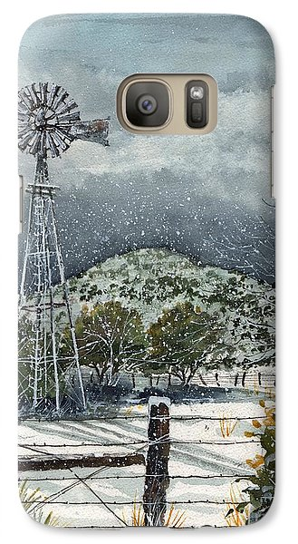 Galaxy Case featuring the painting Sentinel Peak On Sentinel Ranch by Tim Oliver