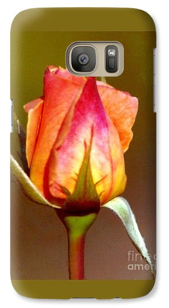 Galaxy Case featuring the photograph Sepal Green by Michael Hoard