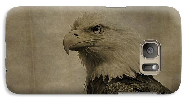 Sepia Bald Eagle Portrait Galaxy S7 Case by Dan Sproul