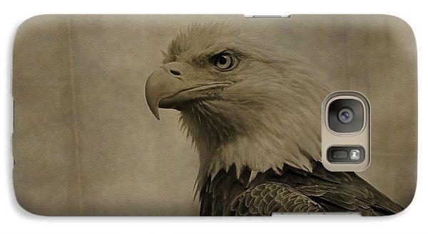 Sepia Bald Eagle Portrait Galaxy S7 Case by Dan Sproul
