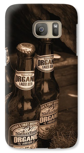 Galaxy Case featuring the photograph Sepia Bottles by Rachel Mirror