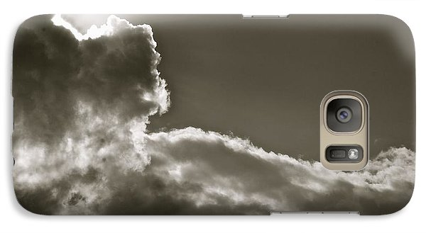 Galaxy Case featuring the photograph Sepia Sun Ray by Lennie Green