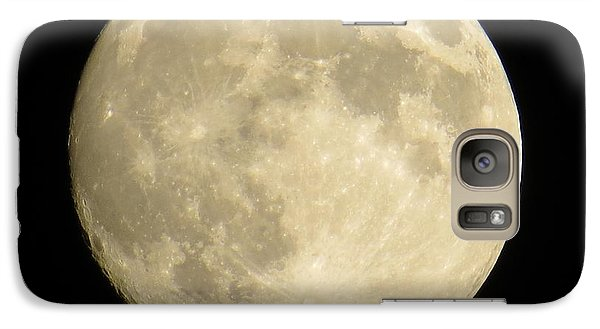 Galaxy Case featuring the photograph September Moon by Judy Via-Wolff