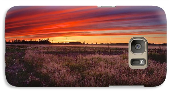 Galaxy Case featuring the photograph September Sunset North Pole Alaska by Michael Rogers