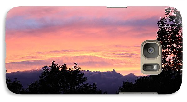 Galaxy Case featuring the photograph September's Evening Sky by Patricia Hiltz