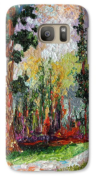 Galaxy Case featuring the painting Sequoia Path National Parks  by Ginette Callaway