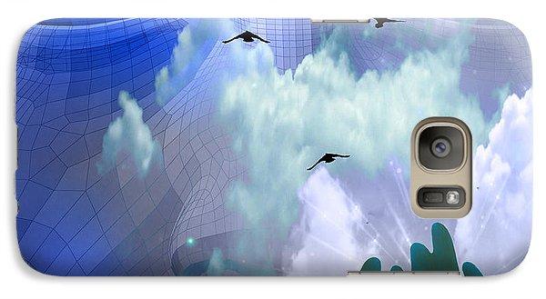 Galaxy Case featuring the digital art Serene by Bruce Rolff