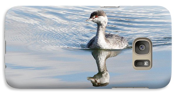 Galaxy Case featuring the photograph Serene Grebe by Anita Oakley